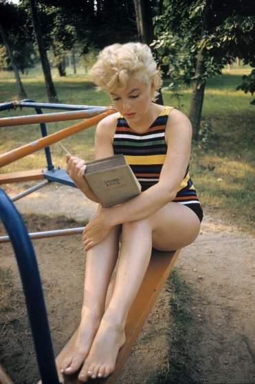 USA. New York. Long Island. US actress Marilyn MONROE. 1955.